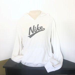 Women's White Nike Hoodie